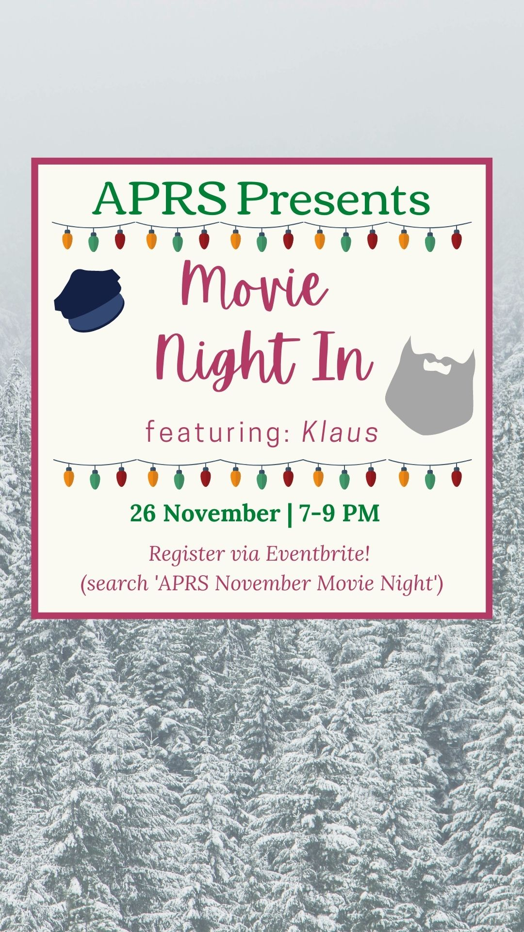 APRS Movie Night 2020 - Holiday Edition