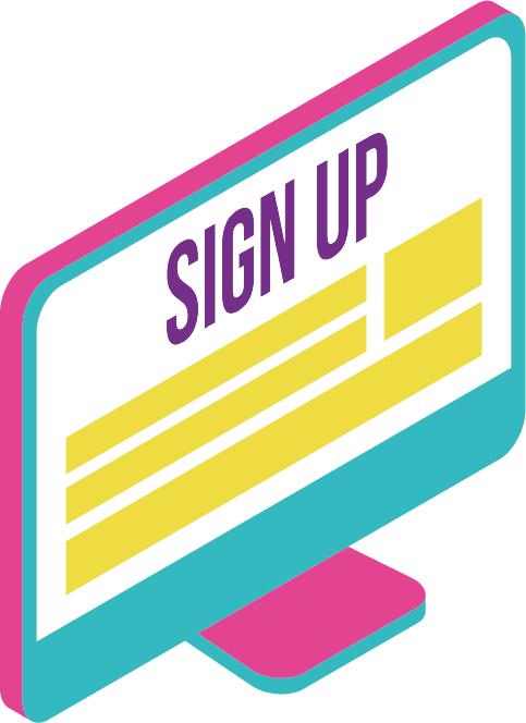 Sign Up Computer Graphic